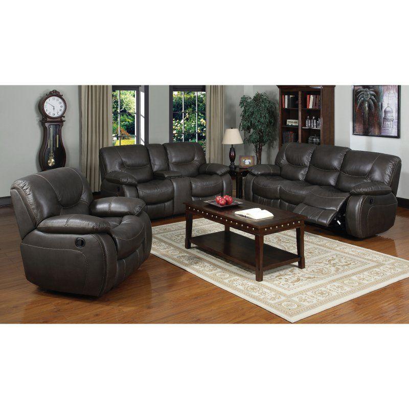 E-Motion Furniture Contemporary Gray Dual Reclining Sofa - 3470-3R