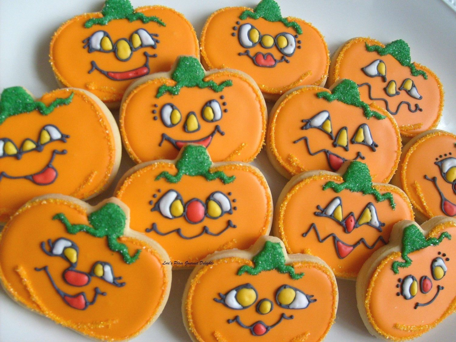 JACK O - Pumpkin Cookie Favors - Halloween Decorated Cookie Favors - Halloween Decorated Cookies