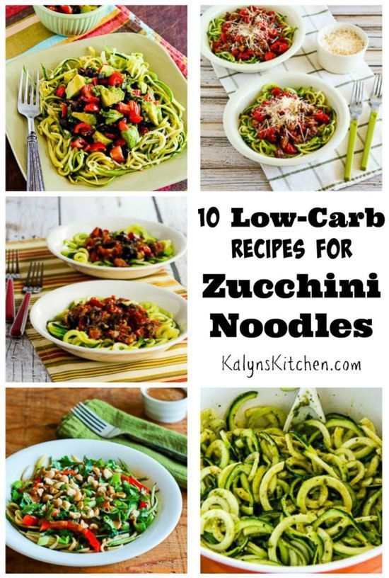 Ten Amazing Low-Carb Recipes for Zucchini Noodles