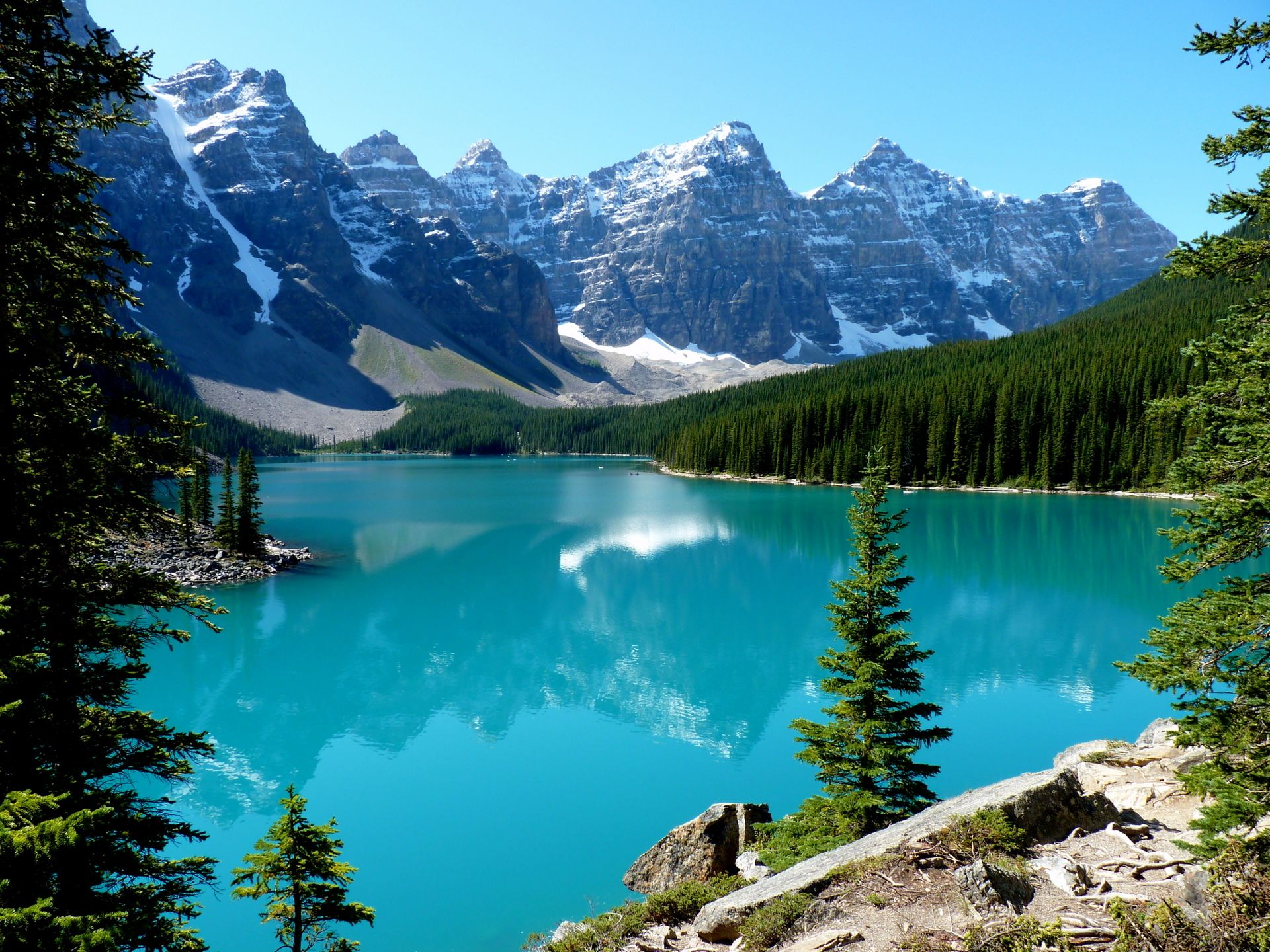 Moraine lake, canada, banff national park, озеро морейн