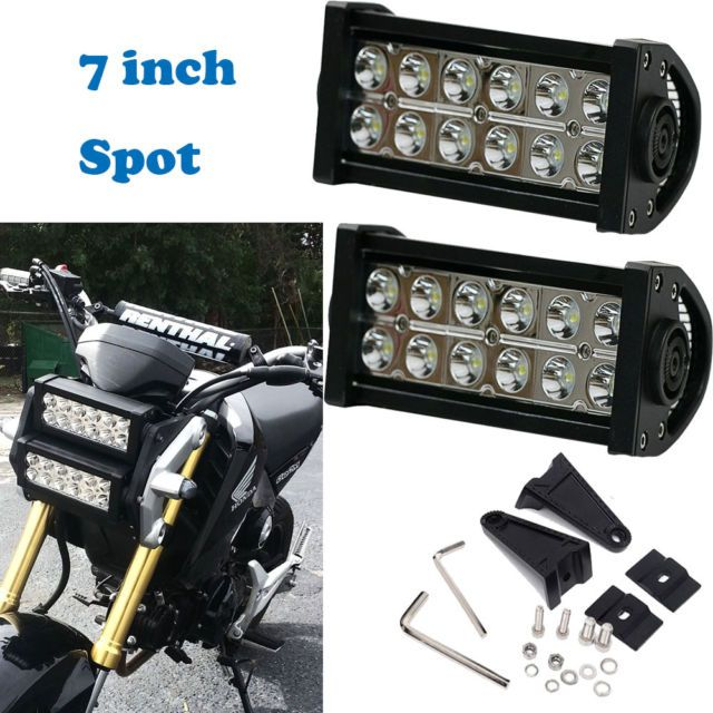 7 inch Double Row Spot LED light bar 2014-2016 Honda Grom Motorcycle headlight | eBay | Motorcycle headlight, Honda grom, Grom motorcycle