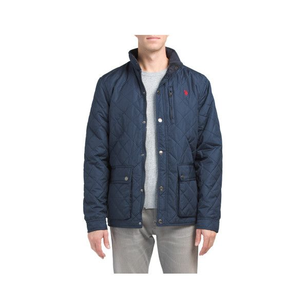 Diamond Quilted Jacket 25 Liked On Polyvore Featuring Mens