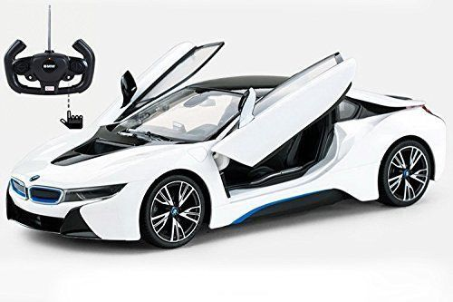 Rc Model Car Radio Remote Control Bmw I8 Vehicle Open Doors White