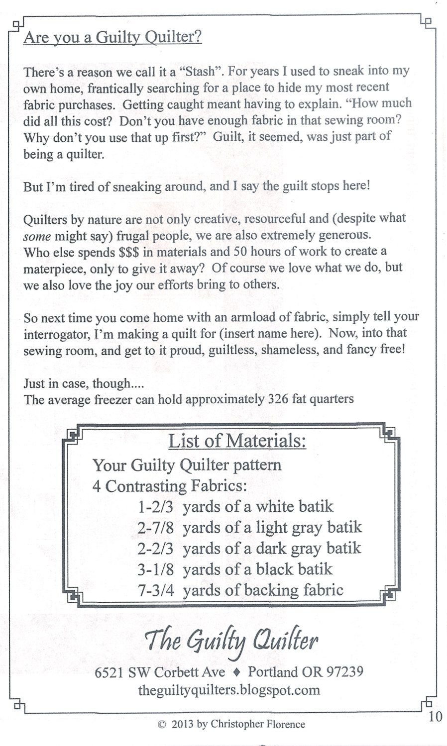 Quilt Pattern - Labyrinth Walk - Instruction Guide, Pattern by The ...