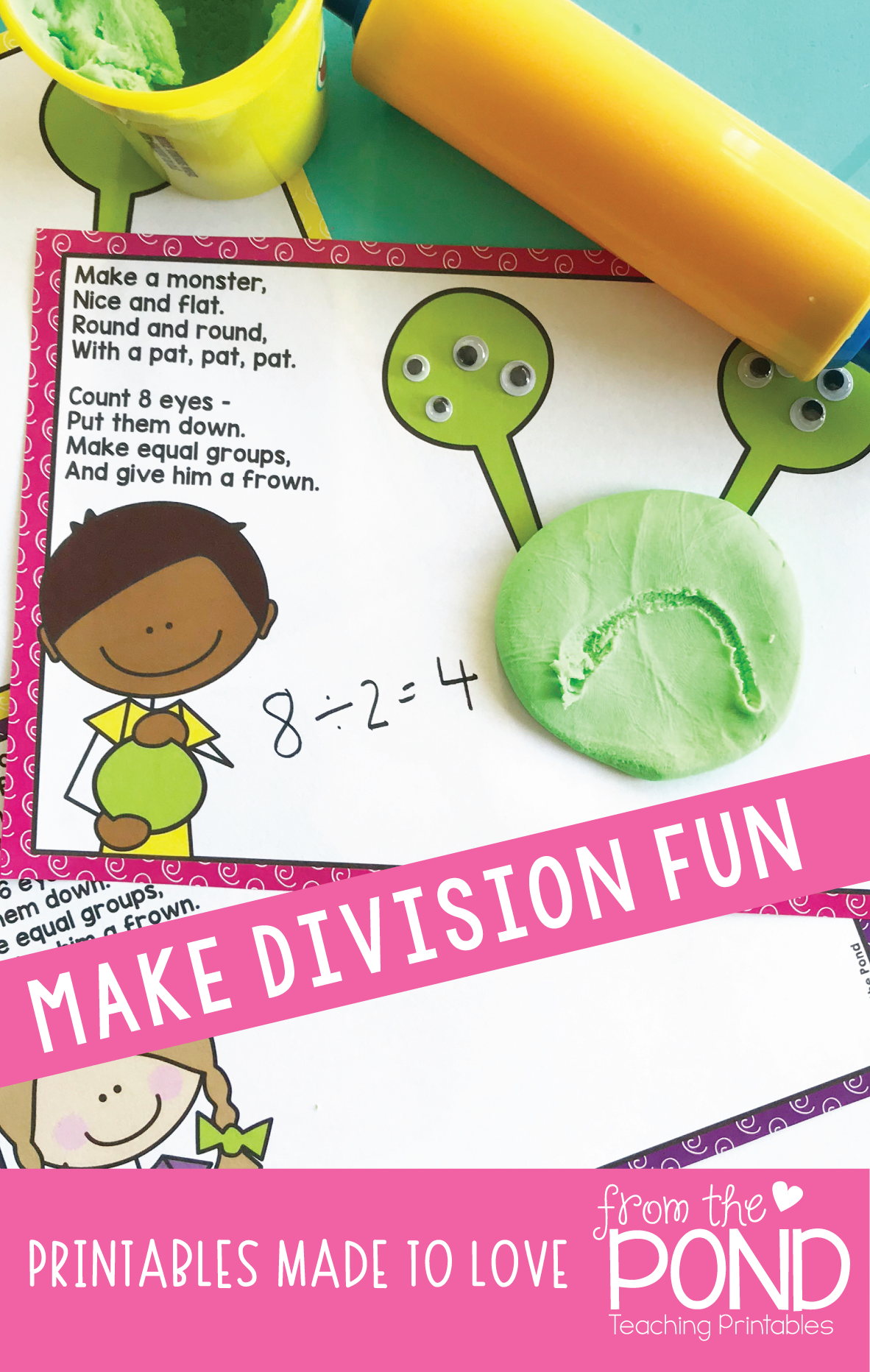 Division Activity Mats Monster Equal Group Fun Division Activities Teaching Printables Teaching Division