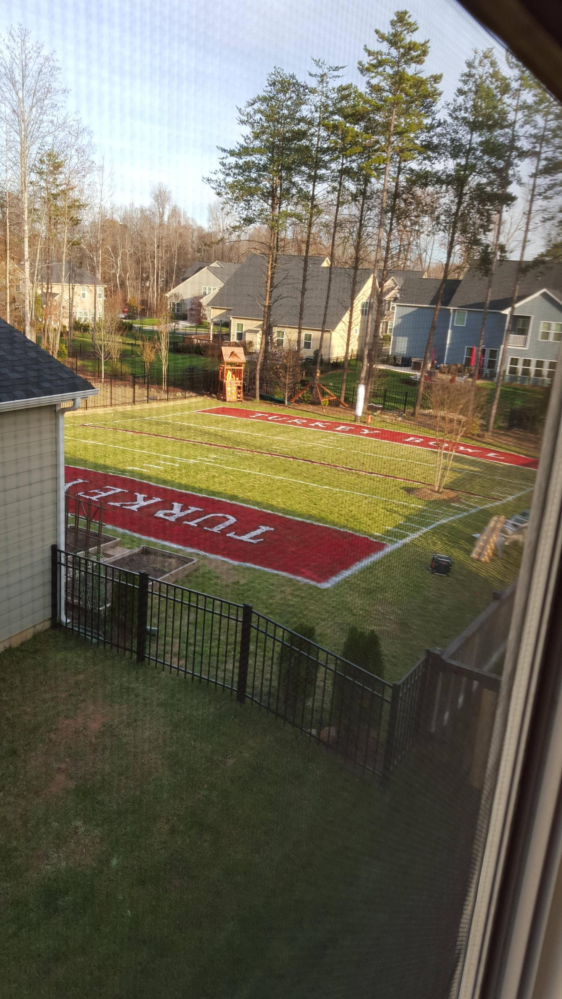How To Make A Backyard Football Field 2021 In 2020 Backyard Baseball Batting Cage Backyard Backyard Sports