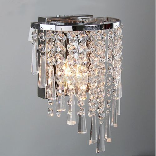 Modern Crystal Wall Light Gorgeous Sparkling Effect Crystal