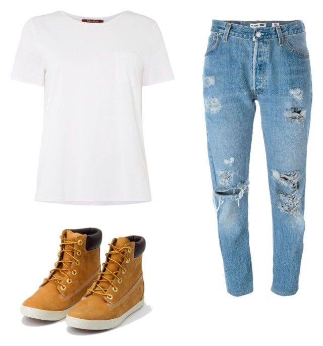 """BTS: Jungkook"" by kathbltn on Polyvore featuring Levi's, MaxMara and Timberland"