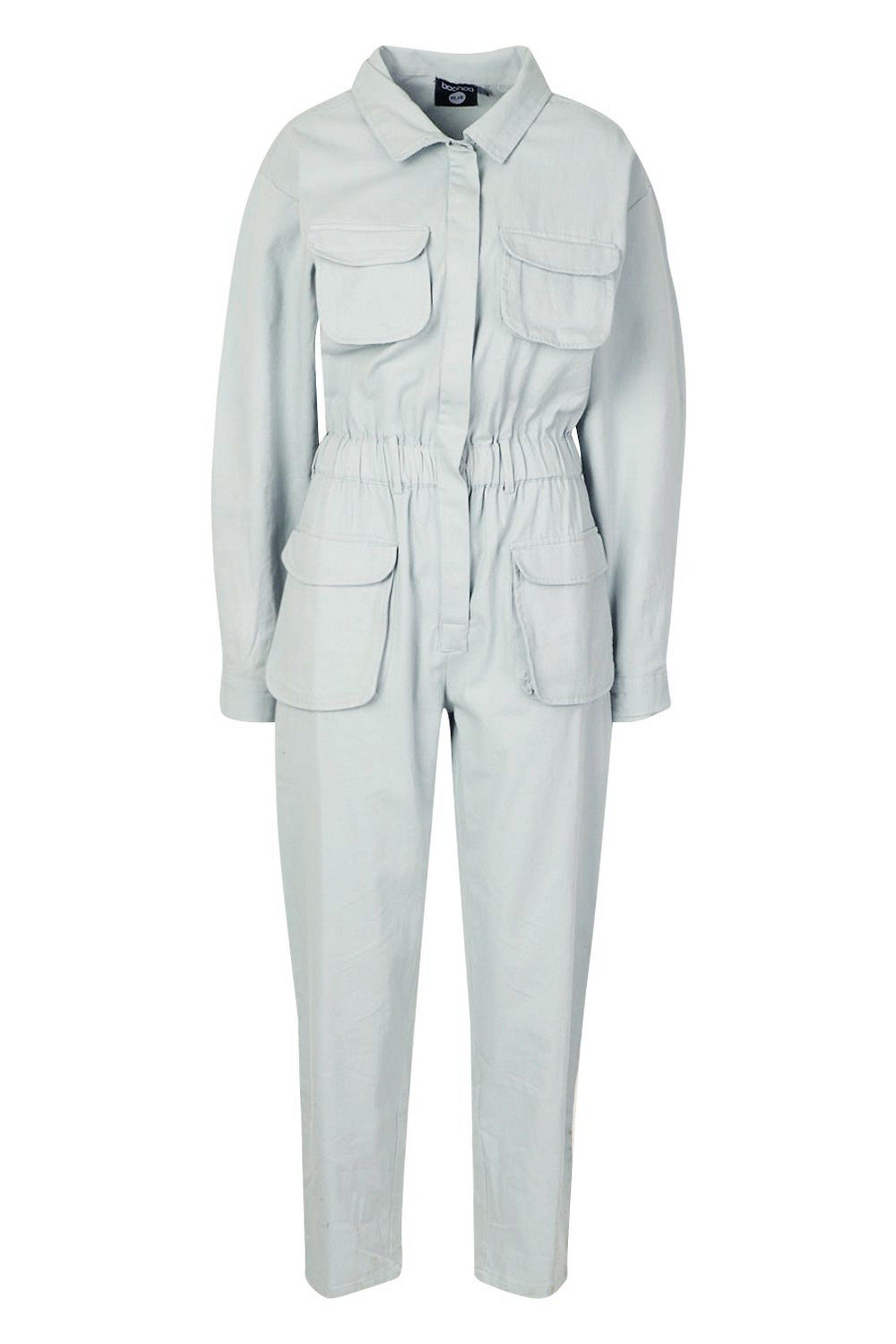 Utility Denim Boilersuit Boohoo Boiler Suit Perfect Jeans Fit Denim