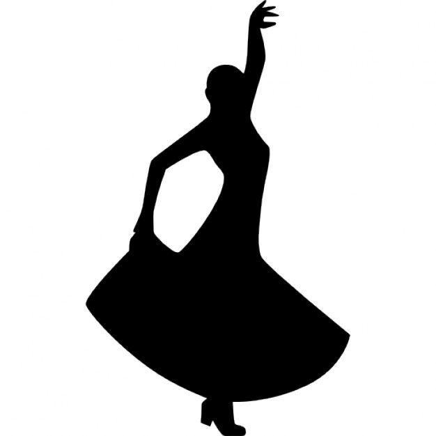 Flamenco Dancing Silhouette Of A Woman 318 56450 Png 626 626 Figurenmalerei Stickbilder Zeichnungen