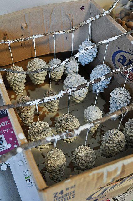 painting pine cones etc pinecones pinecone ornaments winter wedding decorations pine cone. Black Bedroom Furniture Sets. Home Design Ideas