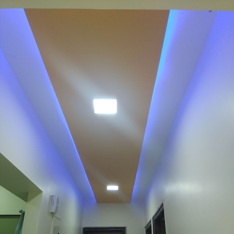 Passage Area False Ceiling Design Blue Light False Ceiling False Ceiling Design False Ceiling Bedroom