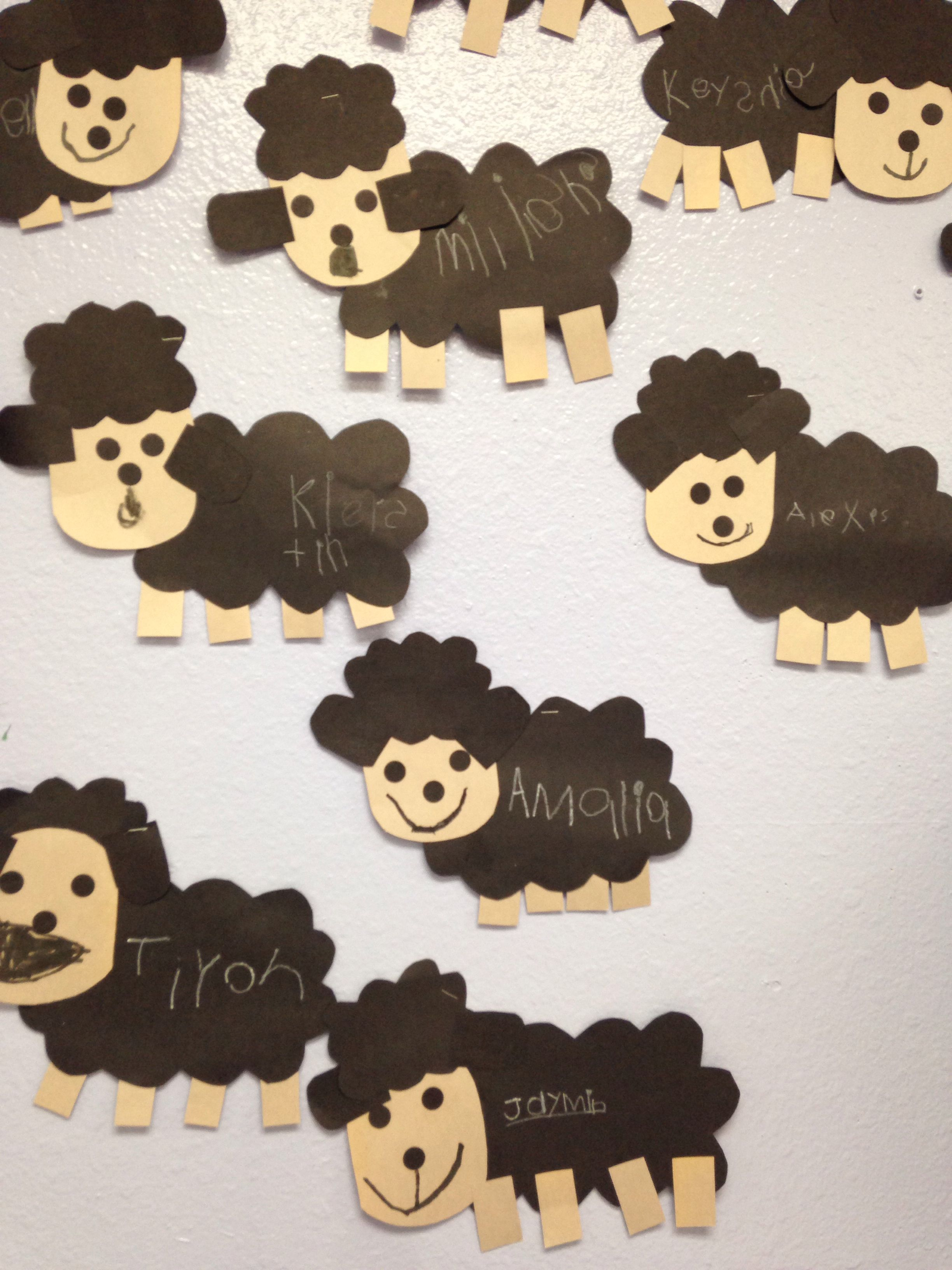 Baa Baa Black Sheep Preschool Craft