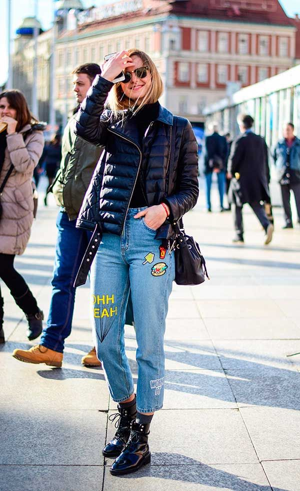 look jeans com patches