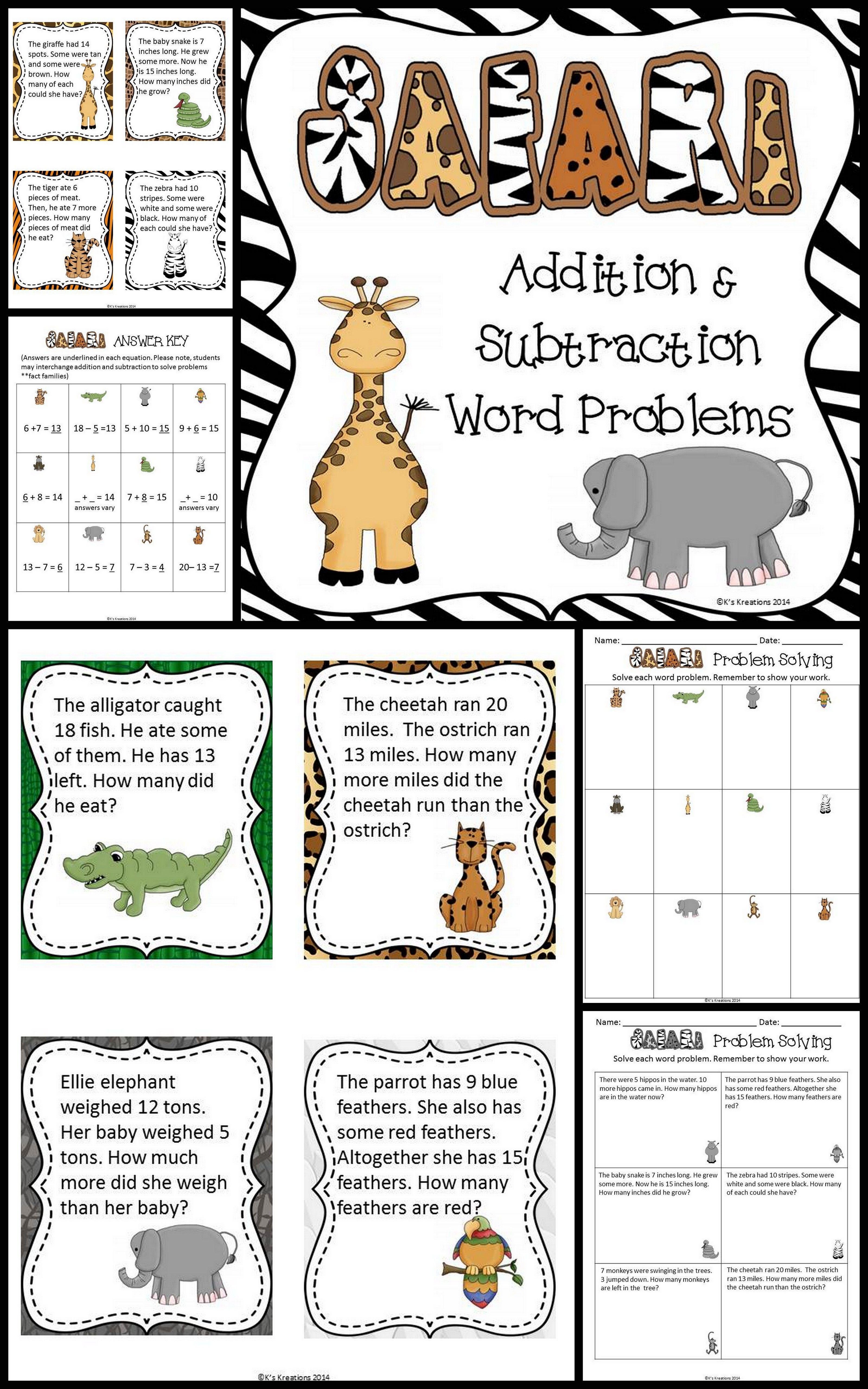 Practice Solving Addition And Subtraction Word Problems To 20 With Unknowns By Using These Safar Word Problems Math Word Problems Subtraction Word Problems [ 5120 x 3200 Pixel ]