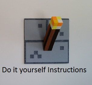 Do it yourself minecraft inspired torch torches instructions do it yourself minecraft inspired torch torches instructions pattern wall decor minecraft crafts pinterest solutioingenieria Image collections