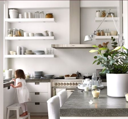kitchen open shelf roundup - Kitchen Shelves And Cabinets