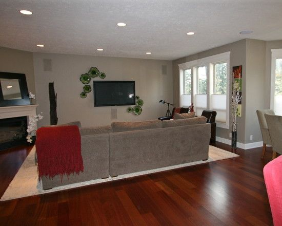 Family Room Brazilian Cherry Wood Floors Design Pictures Remodel