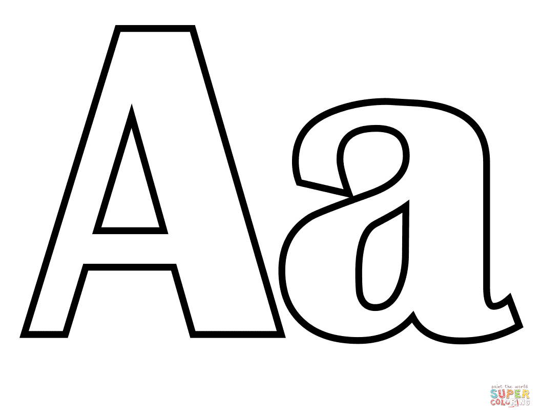 Classic Letter A Coloring Page Free Printable Coloring Pages Letter A Coloring Pages Printable Alphabet Letters Coloring Pages