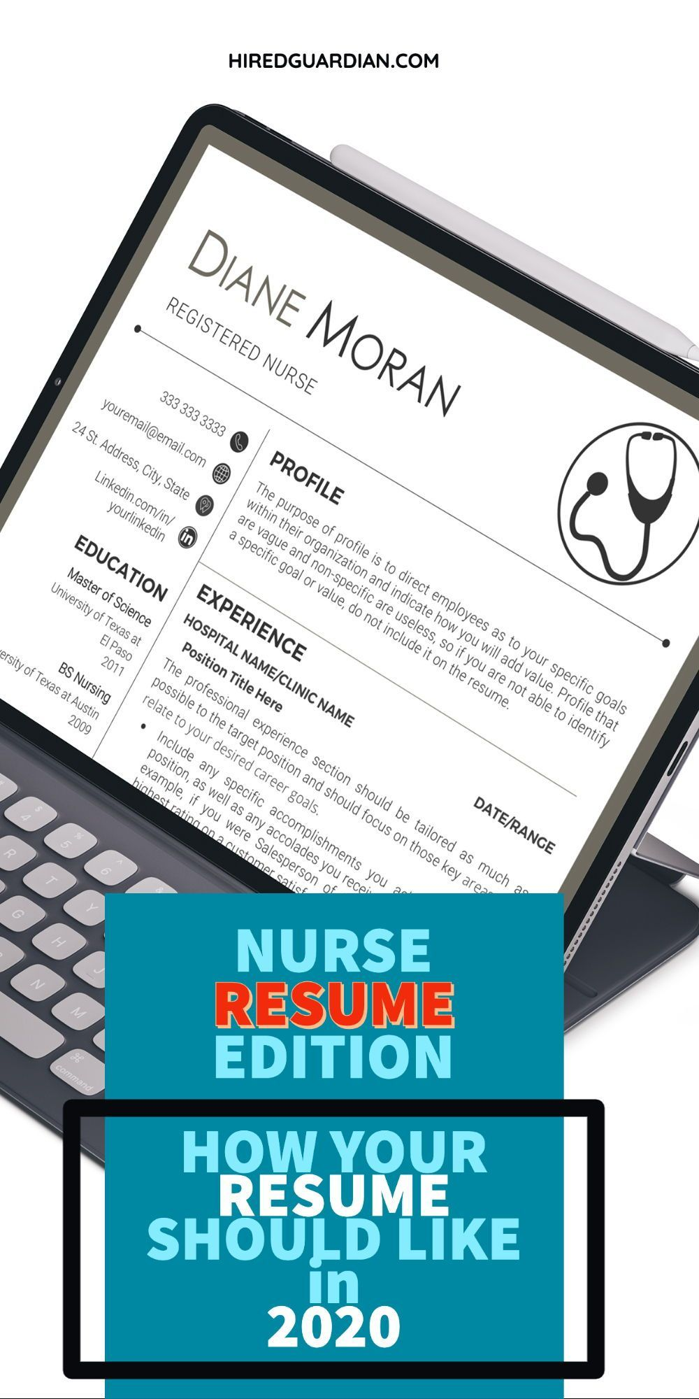 3 How to Resume fashion graphic in 2020 Nursing resume