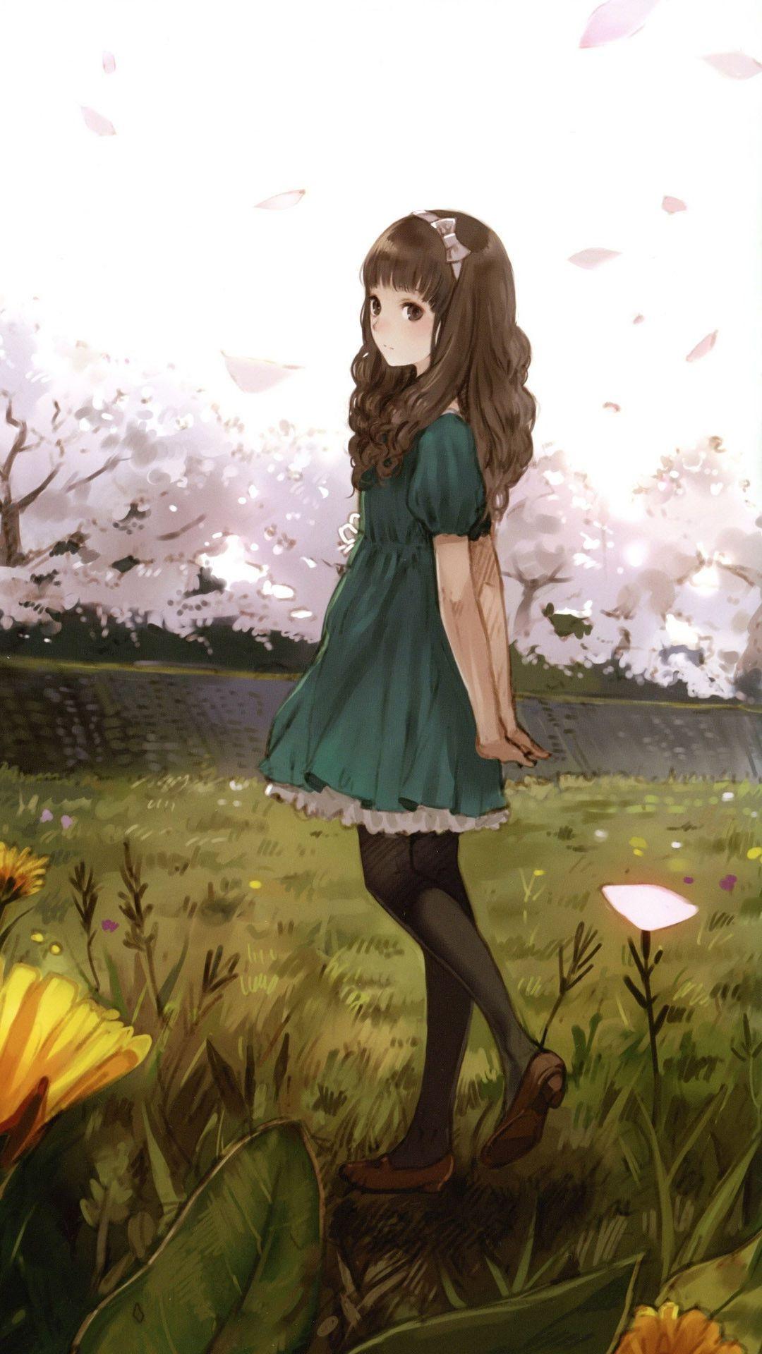 lonely girl mobile wallpaper 5806 anime pinterest
