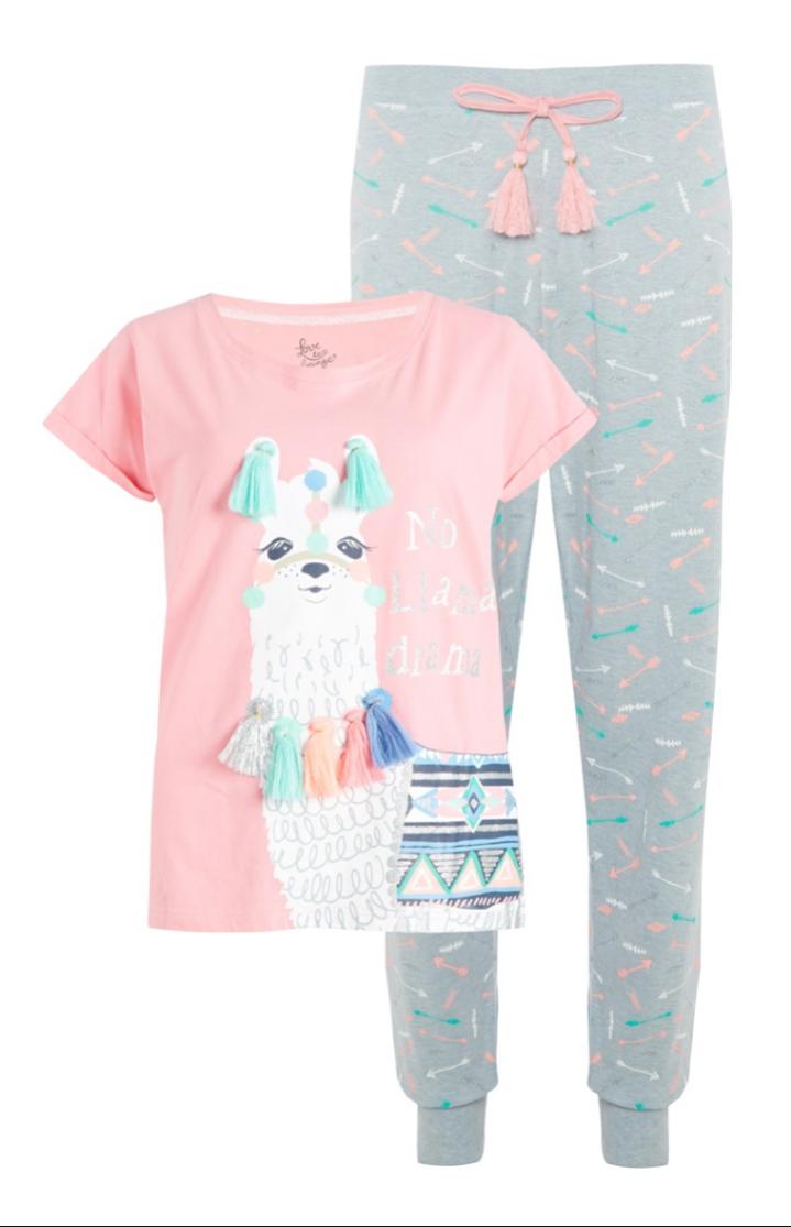 Llama pyjama primark  34e413bad