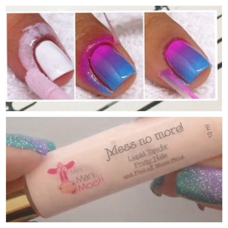 Mess no more! THE ORIGINAL Liquid tape for nails | Pinterest ...