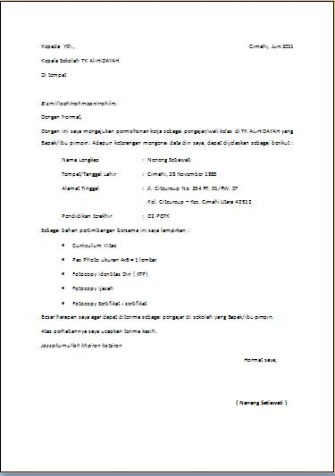 Contoh Riwayat Hidup Dalam Bahasa Inggris Blog Stress Surat Free Resume Format Guru