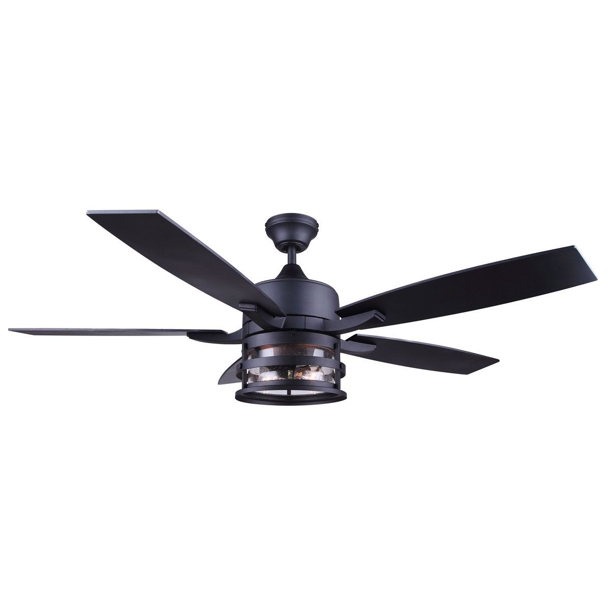 52 Vintage Cylinder Seeded Ceiling Fan Rustic Ceiling Fan Black Ceiling Fan Ceiling Fan With Light