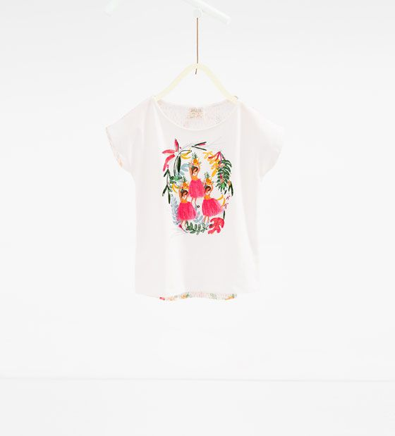ZARA - PROMOTIONS - Tropical print T-shirt