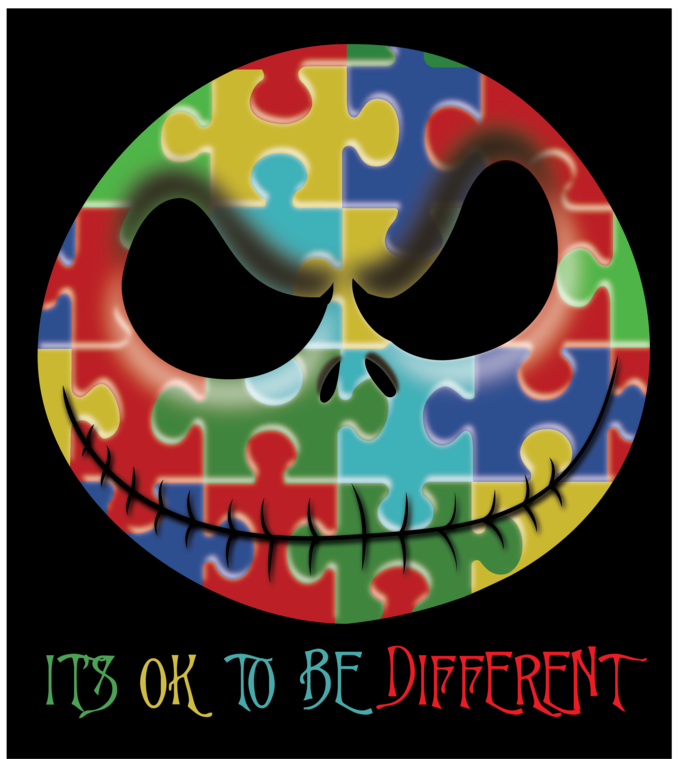Jack Skellington Autism awareness, It's ok to be different