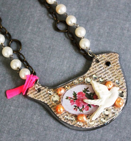 Hottest Trends in DIY: Mixed Media Necklaces