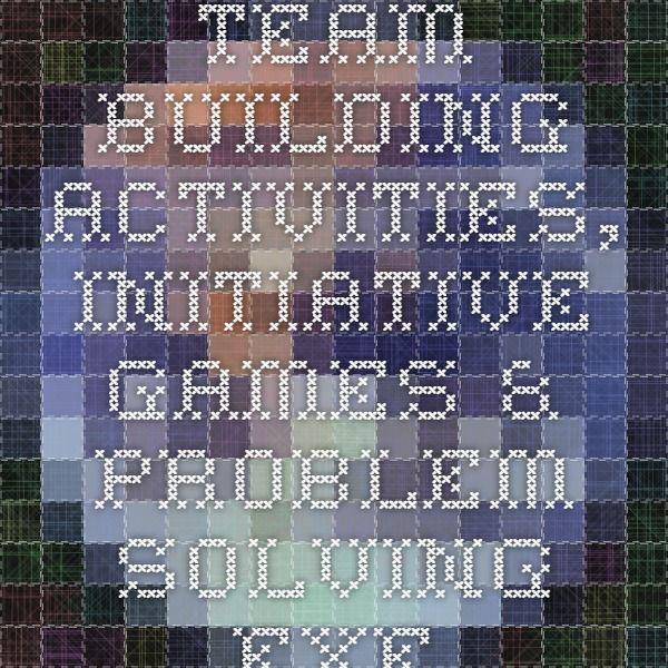 team problem solving exercises