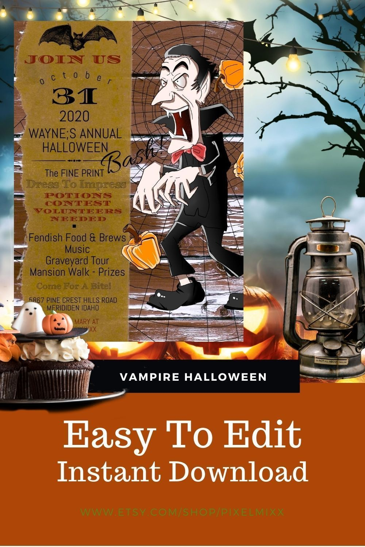 Halloween Partys In Idaho 2020 Dracula Bash Invitation in 2020 | Halloween party invitations
