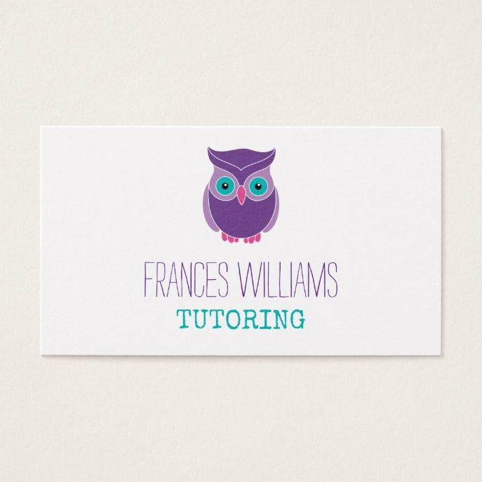Tutoring appointment reminder purple owl business card tutoring appointment reminder purple owl business card appointments and business cards colourmoves
