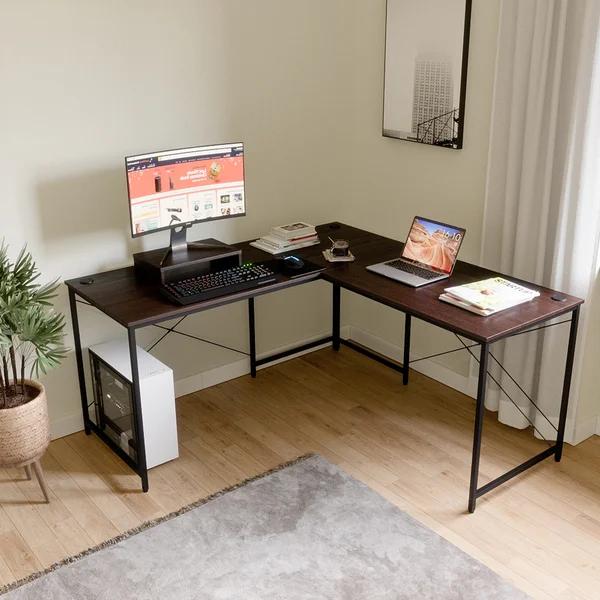 Aticus Reversible L Shape Desk L Shape Desk Desk Gaming Desk