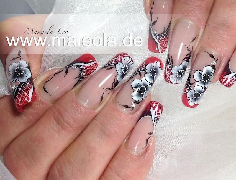 french color and one stroke | Extreme nails | Pinterest | French colors