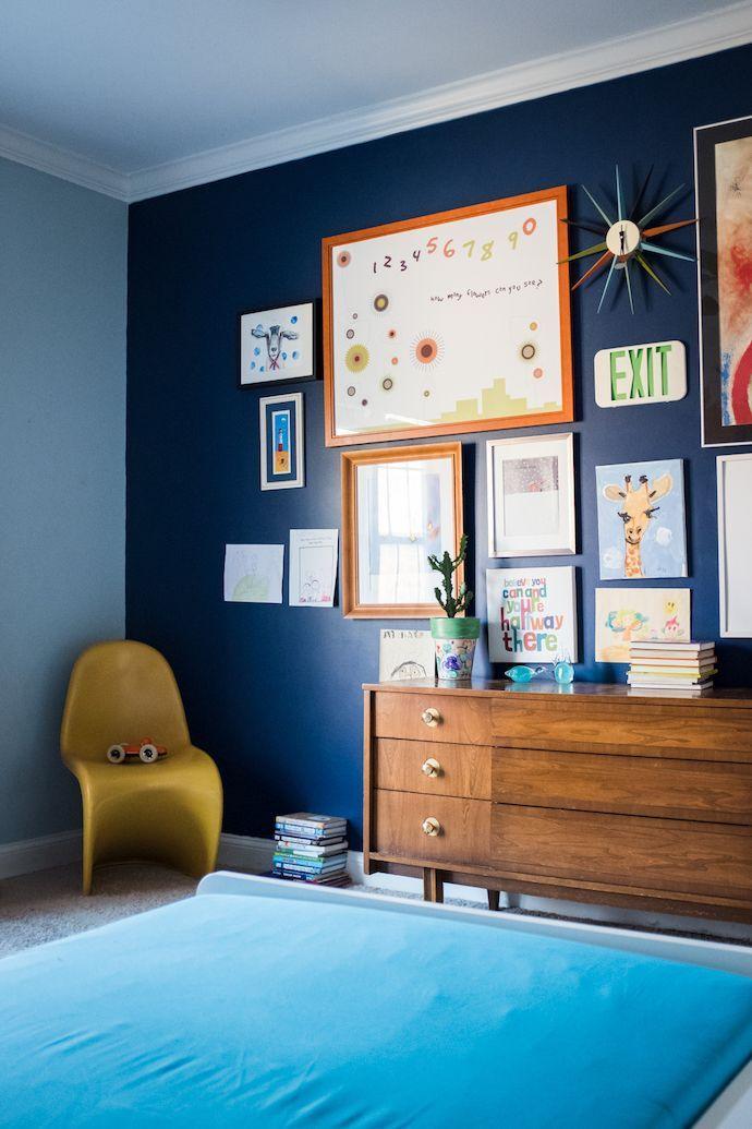 A Blogger's Color Happy Bungalow   Boys room blue, Boy ...