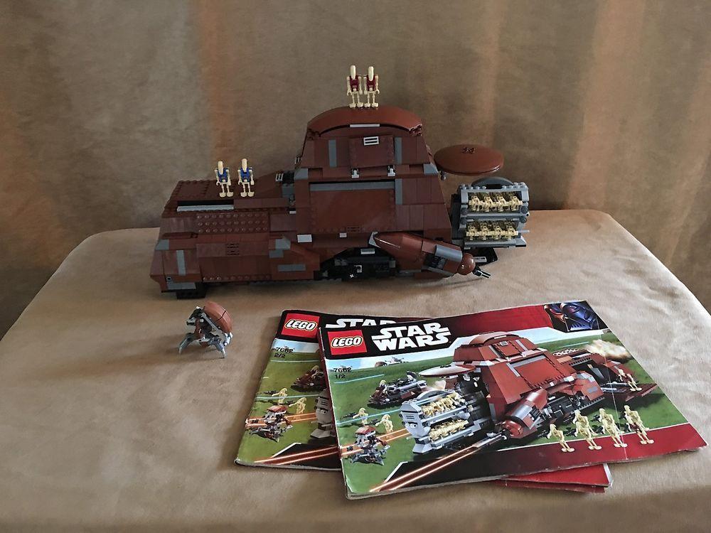 7662 Lego Complete Trade Federation Mtt Star Wars Instruction Books