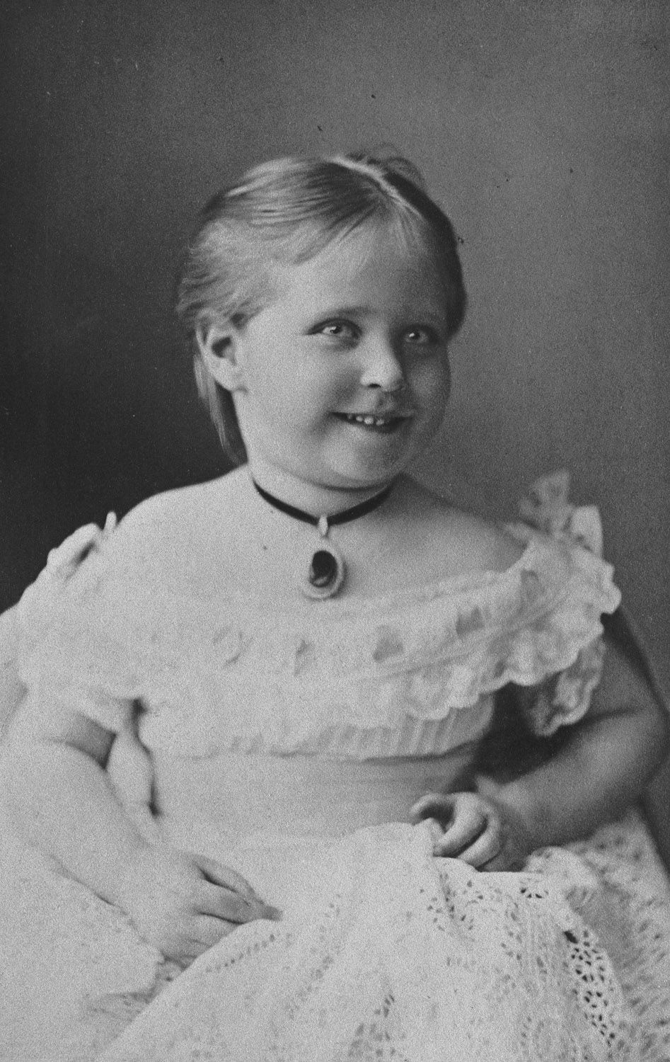 Princess Alix of Hesse, 1875 [in Portraits of Royal Children Vol.19 1874-75] | Royal Collection Trust
