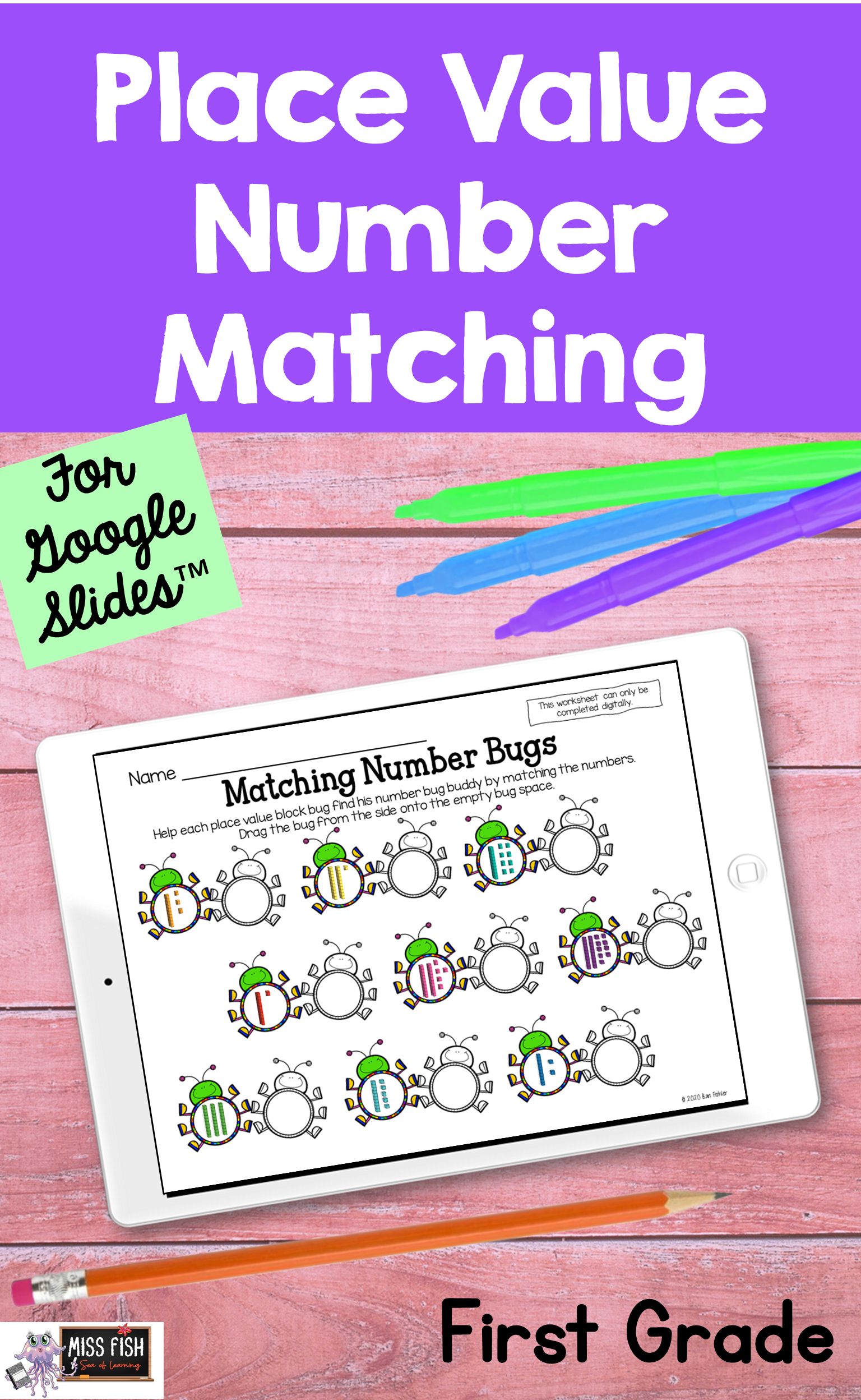 Place Value Number Matching For Slides
