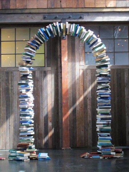 diy Wedding Ideas: Book Arch - more inspiration at