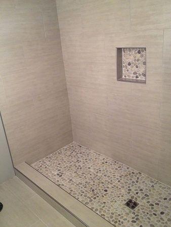 Long Time Admirer First Time User Of Pebble Stones For A Shower Floor Image 1400052973 Jpg Shower Floor Pebble Shower Floor Pebble Tile Shower