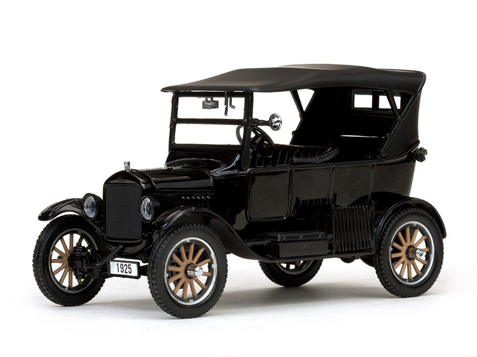 Ford Model T Touring Closed Convertible Black 1925 Car Models