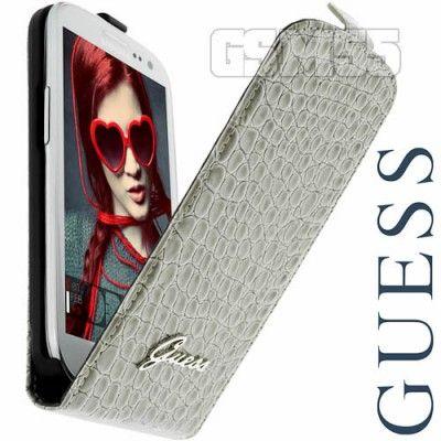 Etui à clapet Galaxy S3 gris by Guess | Vendu par GSM55 ...