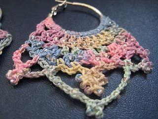 Beaded Crown Crochet Earrings #crownscrocheted Beaded Crown Crochet Earrings #crownscrocheted