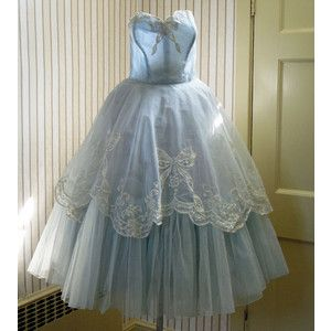 blue 50's style wedding dresses tea length - Google Search ...
