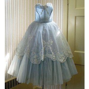 blue 50's style wedding dresses tea length - Google Search ...