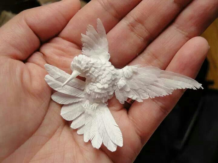 Paper #crafted #hummingbird