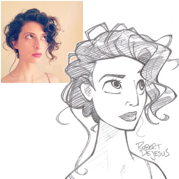 Amazing Art Work By Banzchan Photo To Cartoon Disney Style Drawing Cartoon Drawings Of People